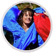 The Scarf Round Beach Towel by Kathy Baccari