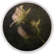 Round Beach Towel featuring the photograph The Scent Of Jasmines by Randi Grace Nilsberg