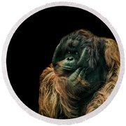 The Sceptic Round Beach Towel by Paul Neville