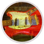 Round Beach Towel featuring the photograph The School Of Rock by David Lee Thompson