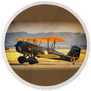 The Scott Familys 1929 Stearman  Version 2 Round Beach Towel