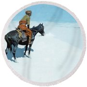 The Scout Friends Or Foes Round Beach Towel