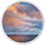 The Sea At Peace Round Beach Towel