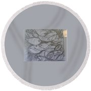 The Sea Diver Round Beach Towel
