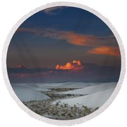 The Sea Of Sands Round Beach Towel