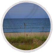The Sea Shore Line Round Beach Towel