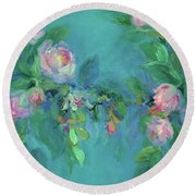 The Search For Beauty Round Beach Towel