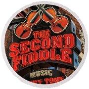 Round Beach Towel featuring the photograph The Second Fiddle Nashville by Stephen Stookey