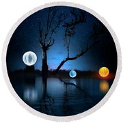 The Secret Of Orb Island Round Beach Towel by Mark Andrew Thomas