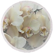 The Secret To Orchids Round Beach Towel