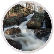 The Secret Waterfall 2 Round Beach Towel