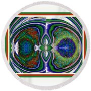 The Seed Of Thought Round Beach Towel
