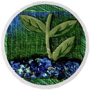 The Seedling Round Beach Towel by Donna Blackhall