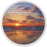The Serenity Prayer Round Beach Towel