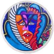 The Serpent Within Round Beach Towel