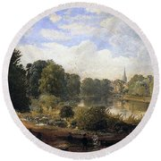 The Serpentine Round Beach Towel by Jasper Francis Cropsey