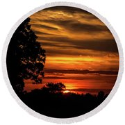 Round Beach Towel featuring the photograph The Setting Sun by Mark Dodd