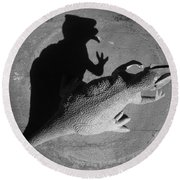 The Shadow Is Mightier Img 2095 Round Beach Towel