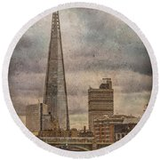 London, England - The Shard Round Beach Towel