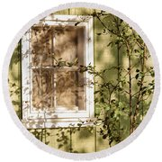 The Shed Window Round Beach Towel