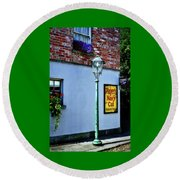 The Shops At Bunratty Castle Round Beach Towel