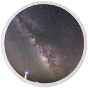 Round Beach Towel featuring the photograph The Shore Of Night by Alex Lapidus