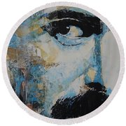 The Show Must Go On  Round Beach Towel