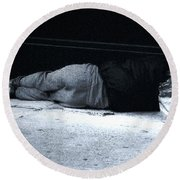 Round Beach Towel featuring the photograph The Sidewalks Of New York by RC deWinter
