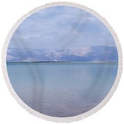 Round Beach Towel featuring the photograph The Silence Of The Dead Sea by Yoel Koskas