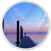 Round Beach Towel featuring the photograph The Silent Man by Thierry Bouriat