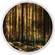 The Silent Woods Round Beach Towel