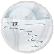 The Silver Fox Round Beach Towel