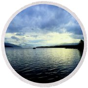 The Silver Linings Round Beach Towel