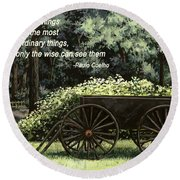 The Simple Things Round Beach Towel
