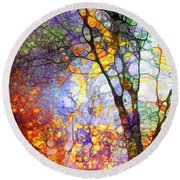 The Simple Tree Round Beach Towel