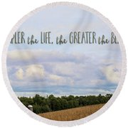 The Simpler Life Round Beach Towel