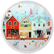 The Singing Bakers Round Beach Towel