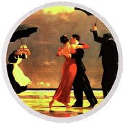 The Singing Butler Round Beach Towel