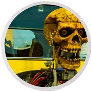 The Skull Round Beach Towel