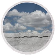 Round Beach Towel featuring the photograph The Sky Is Falling by Brian Boyle