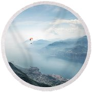 The Sky Is The Limit Round Beach Towel