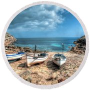 The Slip, Penberth Round Beach Towel