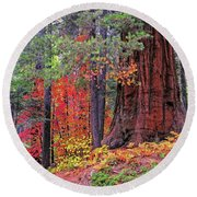 The Small And The Mighty Round Beach Towel by Lynn Bauer