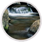 The Smallest Waterfall Round Beach Towel