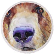 The Sniffer Round Beach Towel