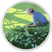The Solace Of The Shade Garden Round Beach Towel
