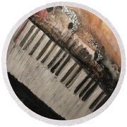 The Song Writer 2 Round Beach Towel