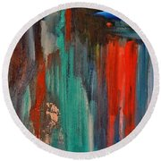 Round Beach Towel featuring the painting The Spectre by Lisa Kaiser