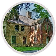 The Spencer-peirce-little House In Spring Round Beach Towel