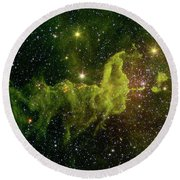 Round Beach Towel featuring the photograph The Spider And The Fly Nebula by NASA JPL - Caltech